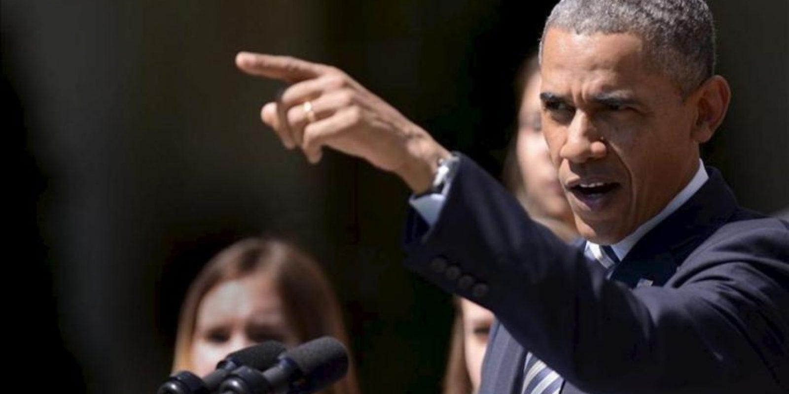 El presidente de Estados Unidos, Barack Obama, ofrece un discurso en la Casa Blanca, Washington (EE.UU.), este 31 de mayo. EFE