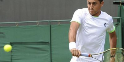 Nicolás Almagro durante su partido de la segunda ronda del Torneo de Wimbledon. EFE