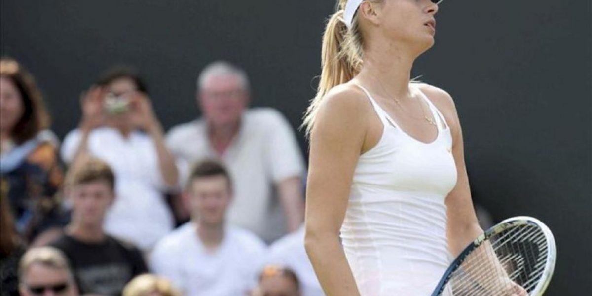 Sharapova pierde con Larcher de Brito en segunda ronda de Wimbledon