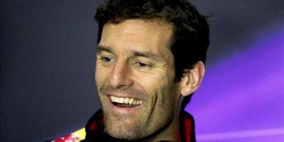 El piloto australiano de Fórmula Uno Mark Webber (Red Bull), durante una rueda de prensa ofrecida en el circuito de Silverstone. EFE
