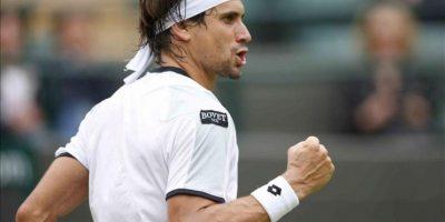 El tenista español David Ferrer durante un partido de segunda ronda del torneo de tenis de Wimbledon. EFE