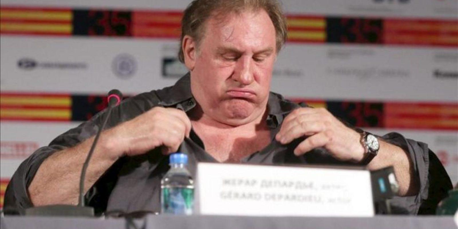 El actor Gerard Depardieu hoy en el Festival Internacional de cine de Moscú. EFE