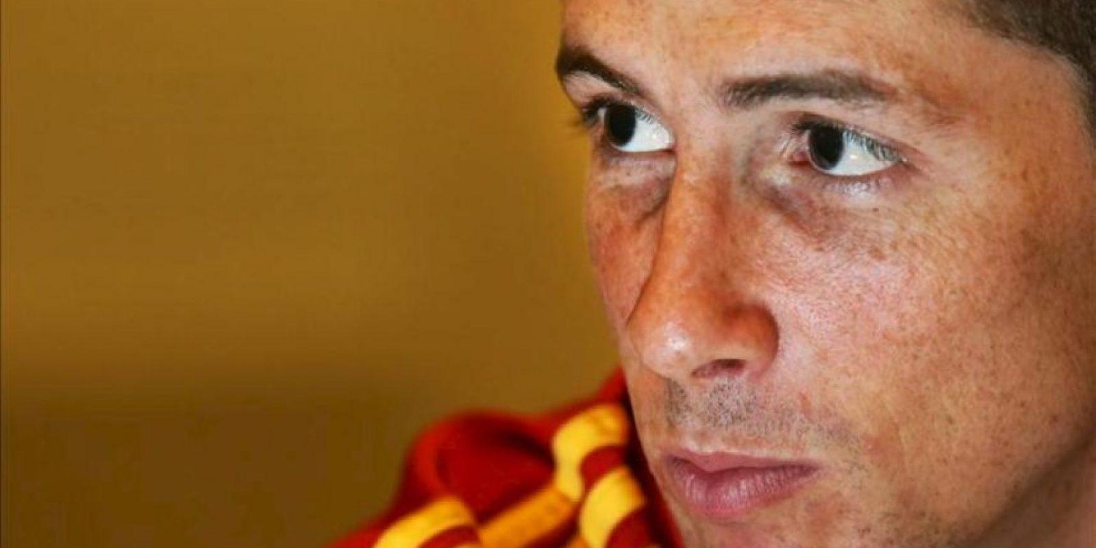 Fotografía del 28 de junio de 2013 del jugador de la selección española Fernando Torres durante una entrevista con la agencia Efe en Río de Janeiro (Brasil). EFE