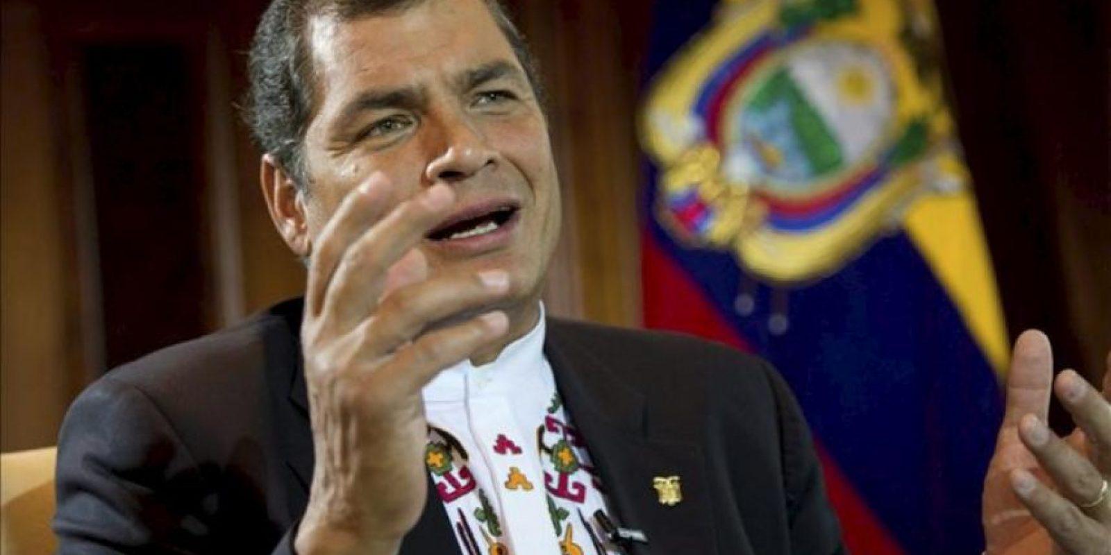 El presidente ecuatoriano, Rafael Correa. EFE/Archivo