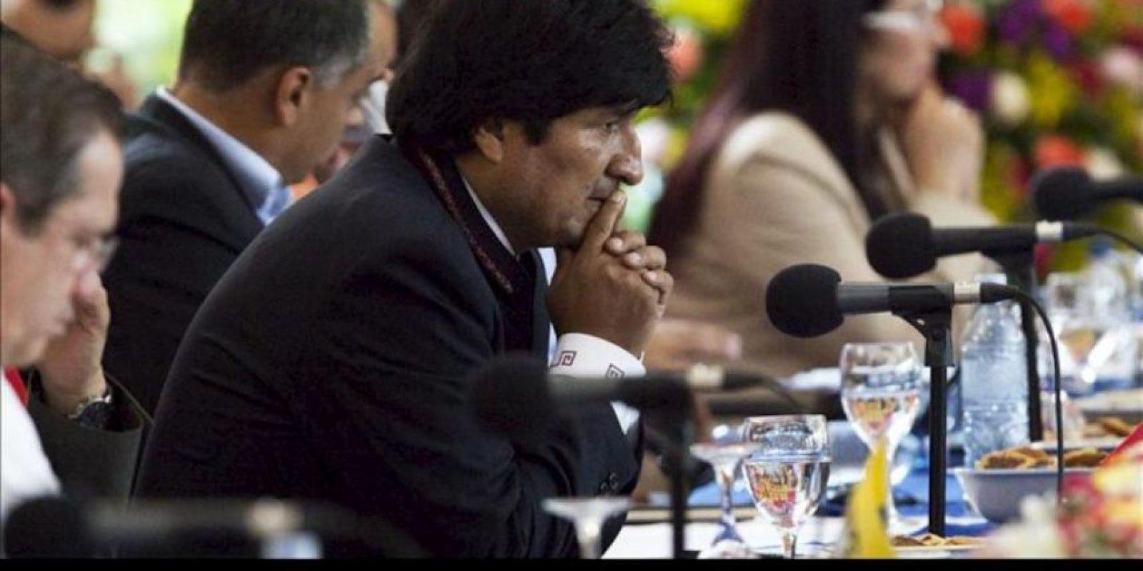 El presidente de Bolivia, Evo Morales asiste a la VIII Cumbre de Jefes de Estado y de Gobierno de Petrocaribe este sábado 29 de junio de 2013, en Managua (Nicaragua).