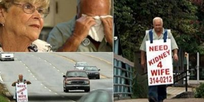 Este hombre buscando desesperadamente un riñón para su esposa. Foto:nydailynews.com