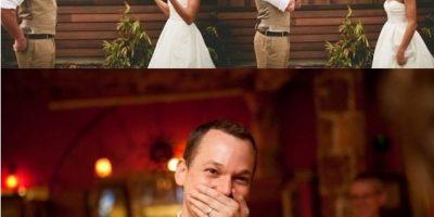 El momento en que estos novios ven a sus prometidas listas para el matrimonio. Foto:buzzfeed.com