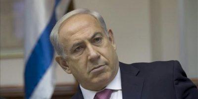 El primer ministro israelí, Benjamín Netanyahu, hoy en Jerusalén. EFE