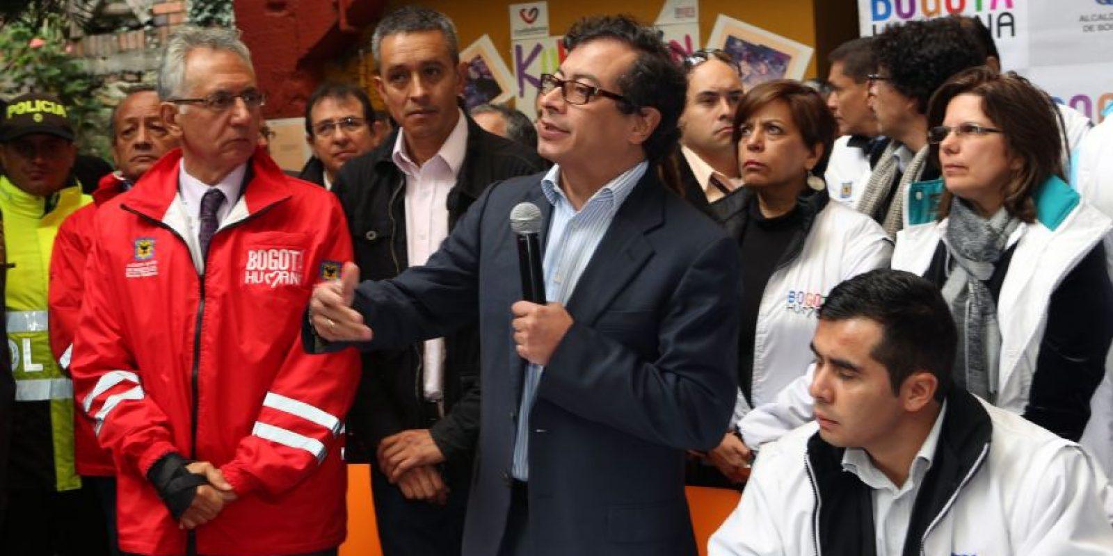El alcalde Gustavo Petro encabeza la Administración de la capital desde Ciudad Bolívar. Foto: Ignacio Prieto /Alcaldía Mayor