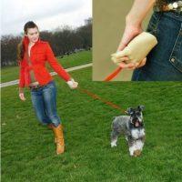Correa para perro con asa en forma de mano Foto: Internet