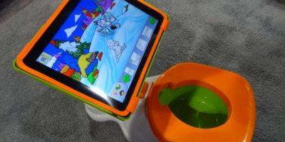 Bacinica con soporte para tablet Foto: Internet