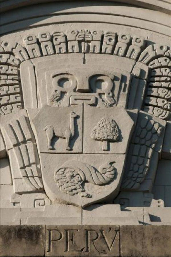 Detalle del pabellón del Perú de Sevilla, donde fueron expuestas Las últimas piezas de la Exposición Iberoamericana de 1929 y que han llegado esta semana a Lima. EFE