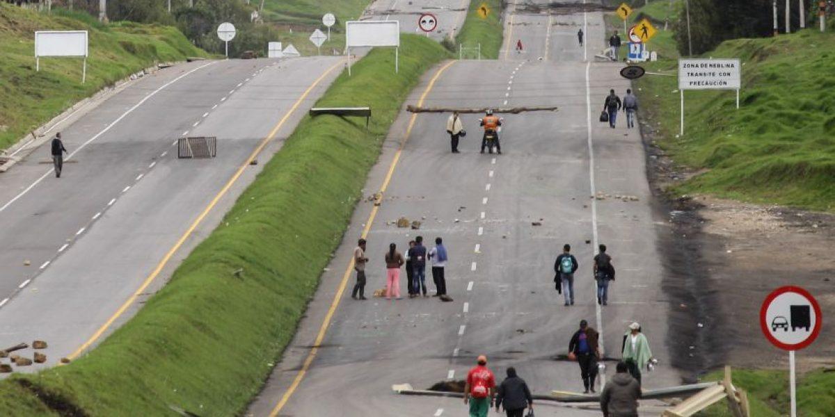 Paro deja dos muertos en Boyacá