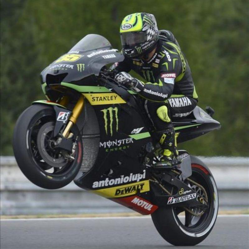 El piloto británico de MotoGP rider Cal Crutchlow, hoy en los entrenamientos oficiales del Gran Premio de la República Checa. EFE