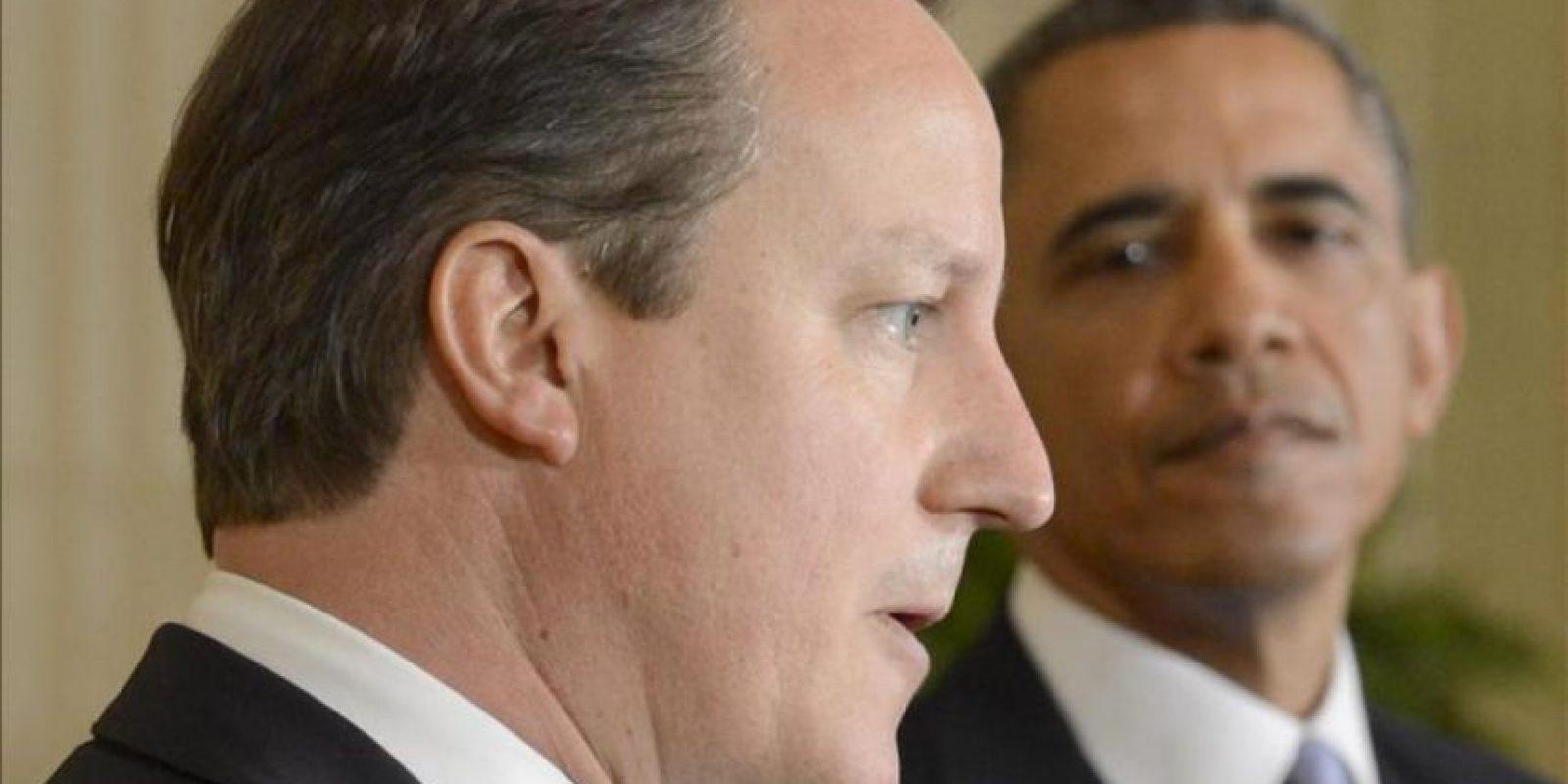 El primer ministro británico, David Cameron (i), junto al presidente de EEUU, Barack Obama, en una imagen de archivo. EFE/Archivo
