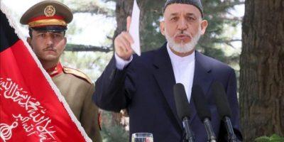 El presidente afgano, Hamid Karzai, durante una rueda de prensa este fin de semana en la que anunció su visita a Pakistán. EFE