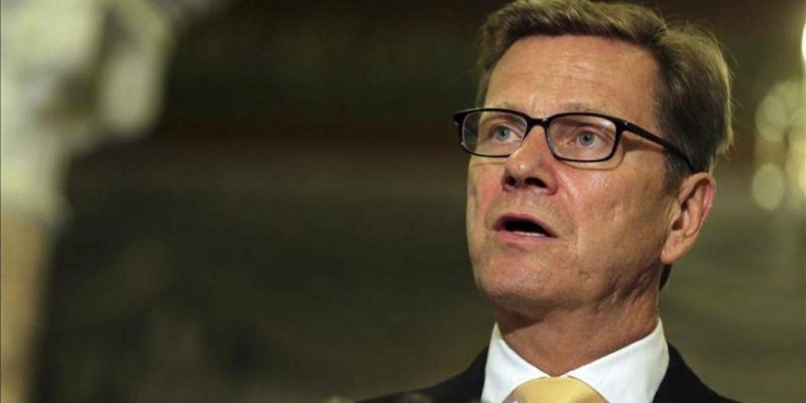 El ministro de Exteriores alemán, Guido Westerwelle. EFE/Archivo