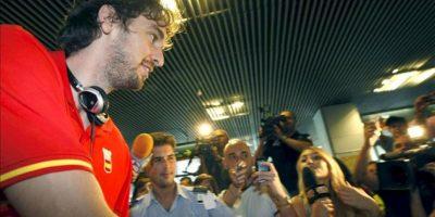 El jugador de la selección española de baloncesto Pau Gasol. EFE/Archivo