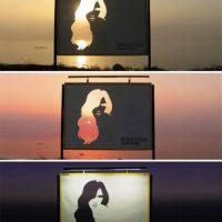 Con el ánimo de mostrar los cambios y contrastes del pelo, Koleston en Beirut hizo estas vallas que contrastan en cabello con los atardeceres. Foto:adsofteworld.com