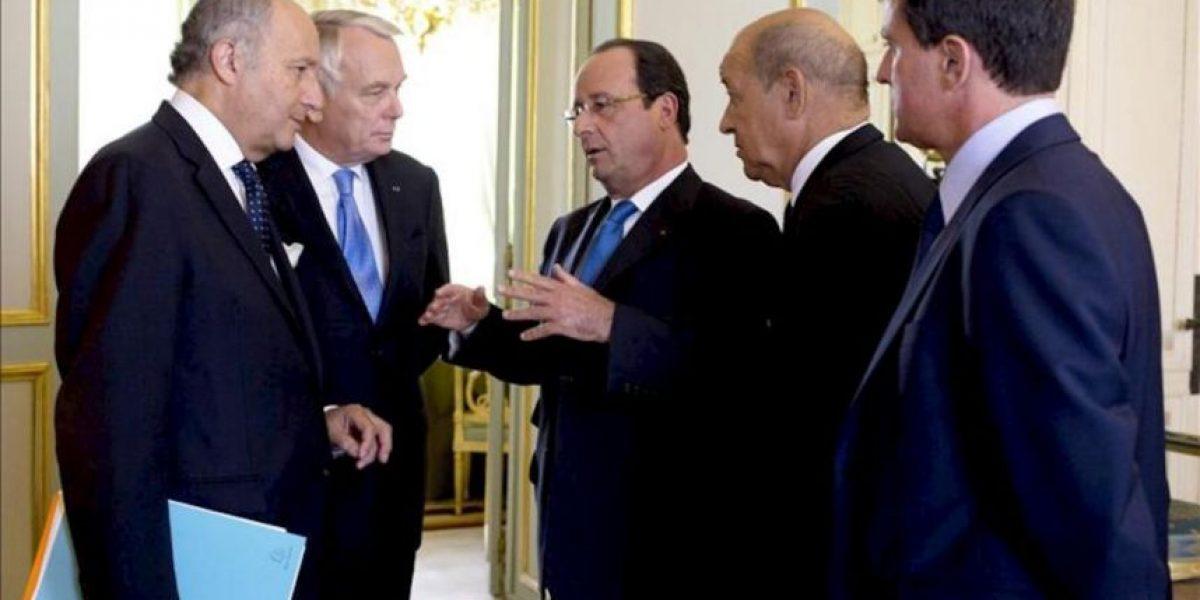 El Gobierno francés analiza su respuesta a los ataques químicos en Siria