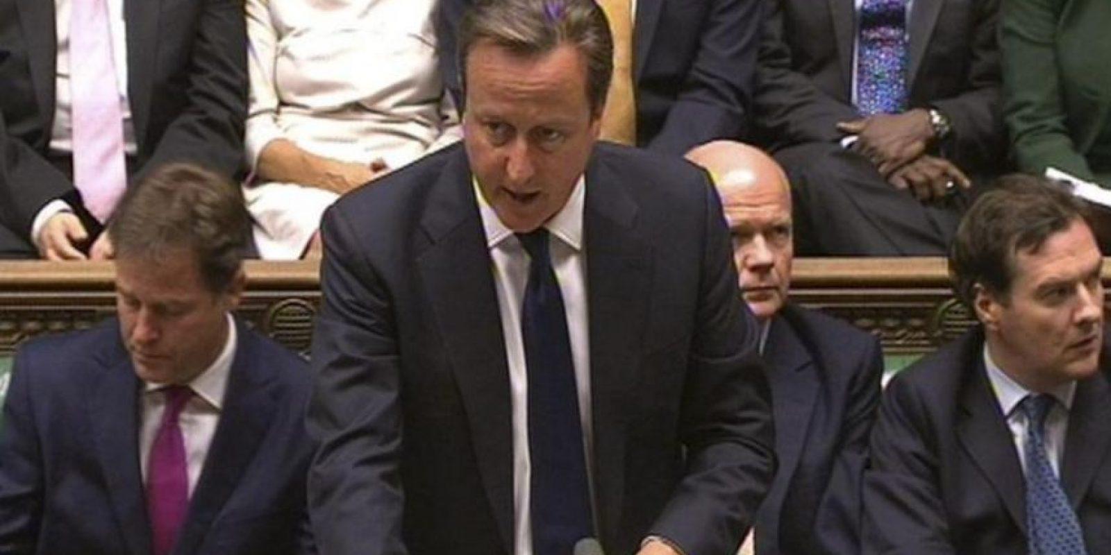 El primer ministro británico David Cameron interviene durante un debate sobre Siria en la Cámara de los Comunes, Londres, Reino Unido. EFE