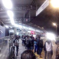 Estación del Portal de la 80, atestado. Difícil tomar transporte. Foto: Diego Hernán Pérez/PUBLIMETRO