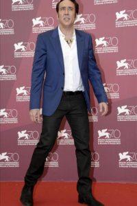 """El actor estadounidense Nicolas Cage posa durante el pase gráfico de la película """"Joe"""", del director estadounidense David Gordon y presentada en competición oficial, durante la 70 edición del Festival de Cine Internacional de Venecia (Italia). EFE"""