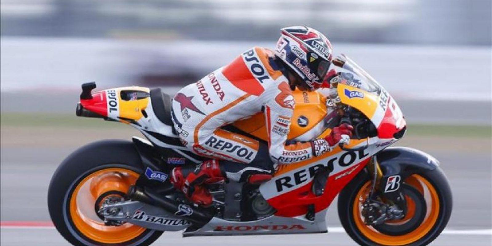 El piloto español de MotoGP, Marc Márquez (Repsol-Honda) durante los entrenamientos libres. EFE