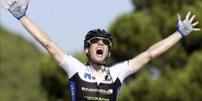 El ciclista checo del Netapp Leopold Konig, celebra su victoria en la octava etapa de a Vuelta Ciclista a España-2013. EFE