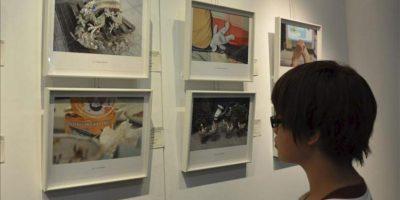 """La exposición de artistas taiwaneses formados en España """"Recuerdo y Creación"""" se inauguró hoy en la Universidad de Tamkang, cuyo Departamento de Español, organizador de la muestra, es uno de los más antiguos de Asia. EFE"""