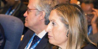 La ministra de Fomento, Ana Pastor, durante la apertura de la 38 sesión de la Asamblea General de la Organización de la Aviación Civil Internacional (OACI), en la sede del organismo de la ONU en Montreal. EFE