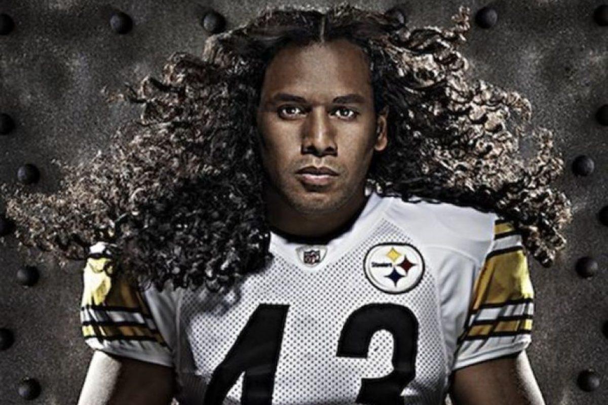 1. El defensor de los Steelers de Pittsburgh, Troy Polamalu tiene el pelo más costoso del mundo. La póliza de seguro de 1 millón de dólares por su cabello rizado es la más costosa del planeta. Además, el jugador es vocero de Head & Soulders. Crédito: streetball.com