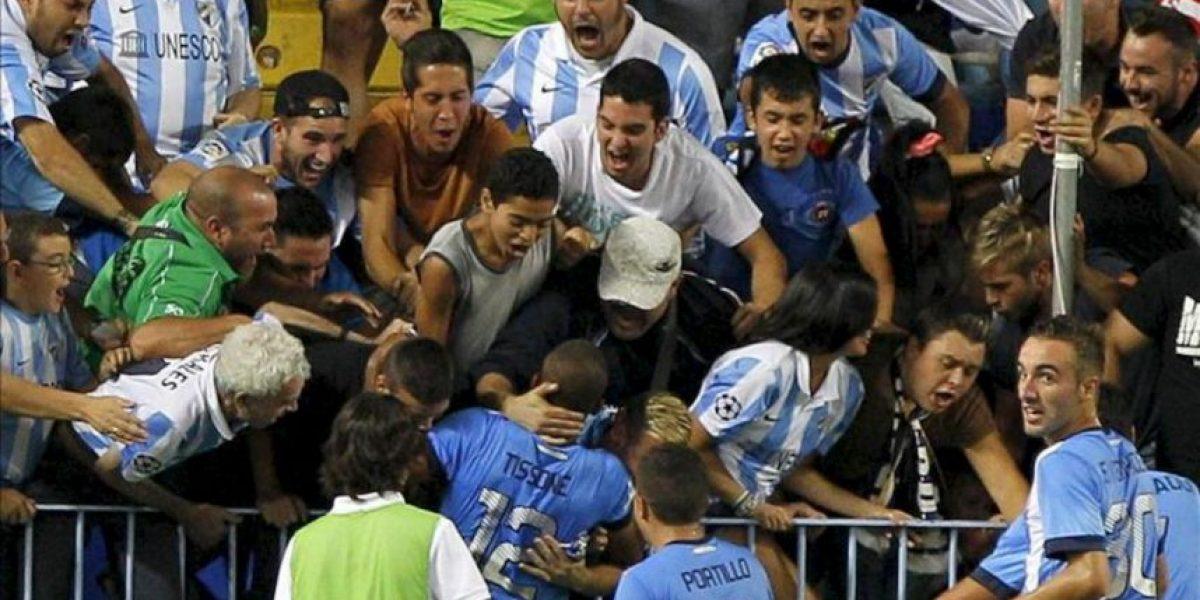 2-0. El Málaga no acusa el cansancio ante un Almería que se diluyó
