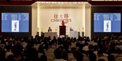 Vista general de la primera subasta de la casa de subastas británica Christie's en la República Popular de China, en Shanghái. EFE