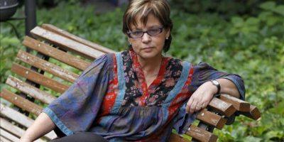 """La narradora y poeta colombiana Piedad Bonnett durante la entrevista con Efe para hablar de su última obra """"Lo que no tiene nombre"""", hoy en Madrid. EFE"""