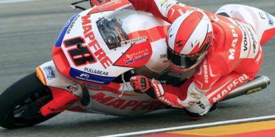 El piloto español de Moto2 Nico Terol (Aspar Team), durante la tercera sesión de entrenamientos libres celebrados esta mañana en el Circuito Motorland en Alcañiz (Teruel), donde este fin de semana se celebra el Gran Premio de Aragón de motociclismo. EFE