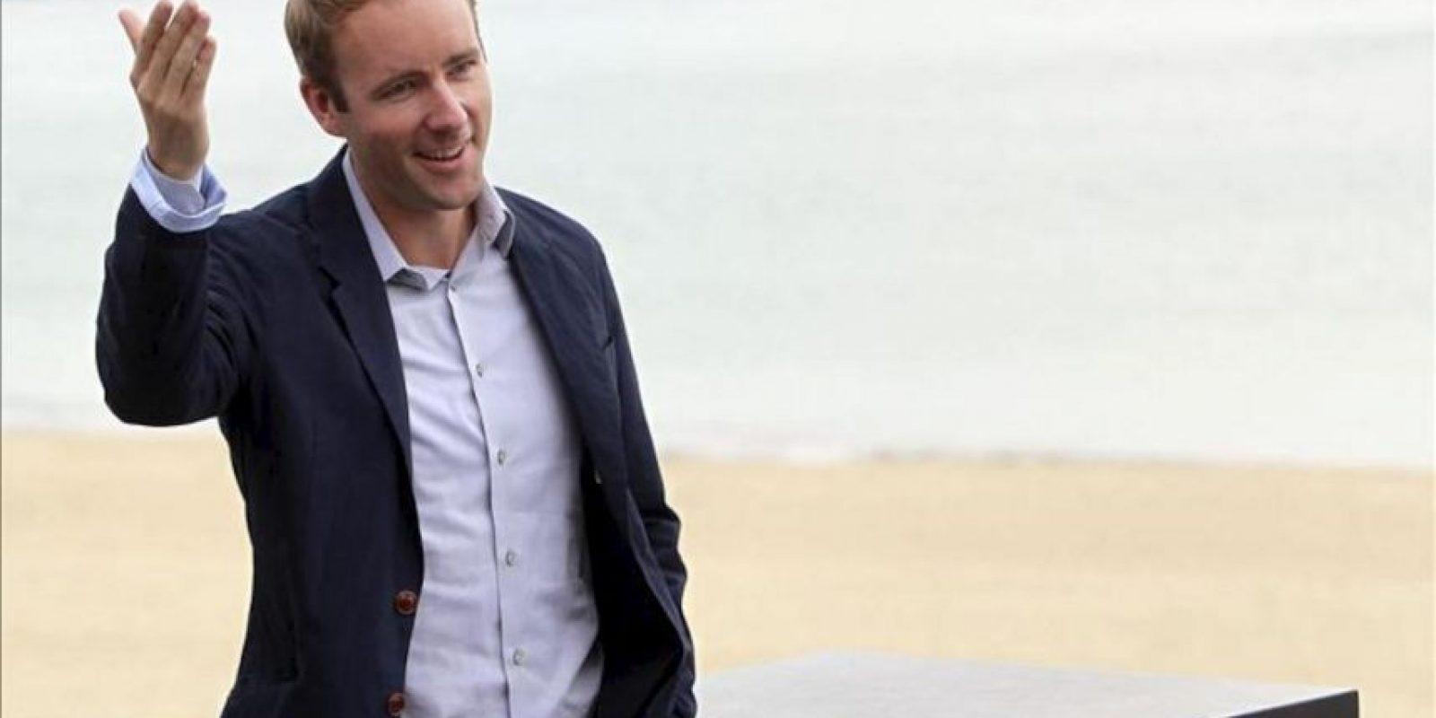 """El autor de la novela, Reif Larsen, durante la presentación hoy de """"The young and prodigious T.S.Spivet"""", que compite en la Sección Oficial de la 61 edición del Festival Internacional de Cine de San Sebastián. EFE"""