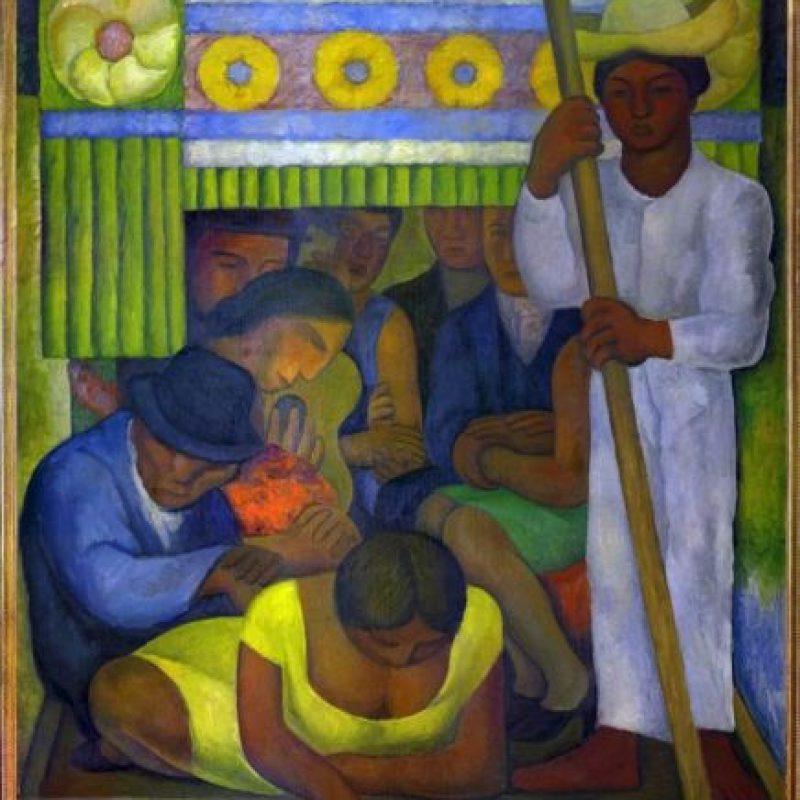 """Fotografía facilitada por el Museo de la Orangerie de """"La Canoa Enflorada"""" (1931), de Frida Kahlo, óleo del Museo Dolores Olmedo, Xochimilco, México. Una de las obras que se expondrán del 9 de octubre al 13 de enero en el Museo de la Orangerie de París en la exposición """"Frida Kahlo / Diego Rivera. El Arte en fusión"""". EFE"""