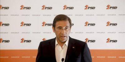 El lider del patido socialdemócrata y primer ministro portugués, Passos Coelho, analiza ante la prensa los resultados de las elecciones municipales celebradas este domingo en Portugal. EFE