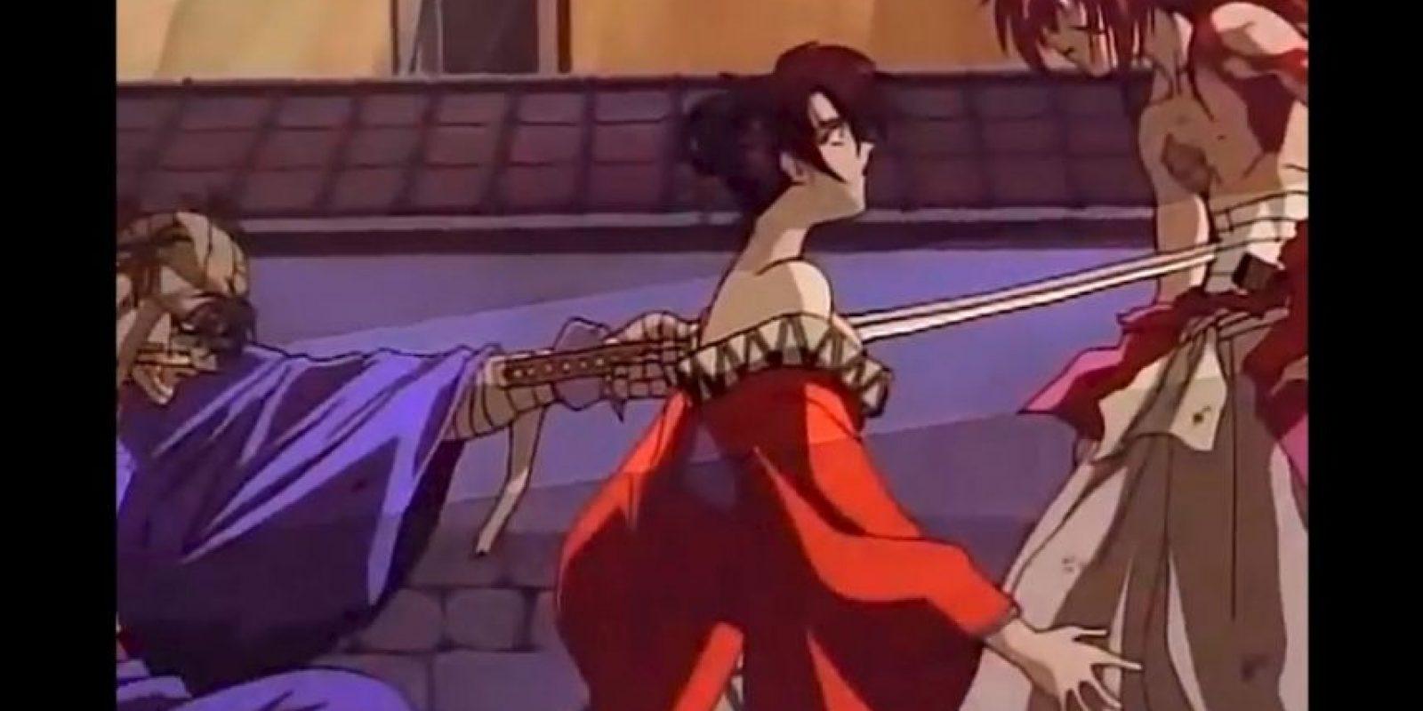 Así enfrentó a Kenshin, a costa de su amante. Foto:Studio DEEN