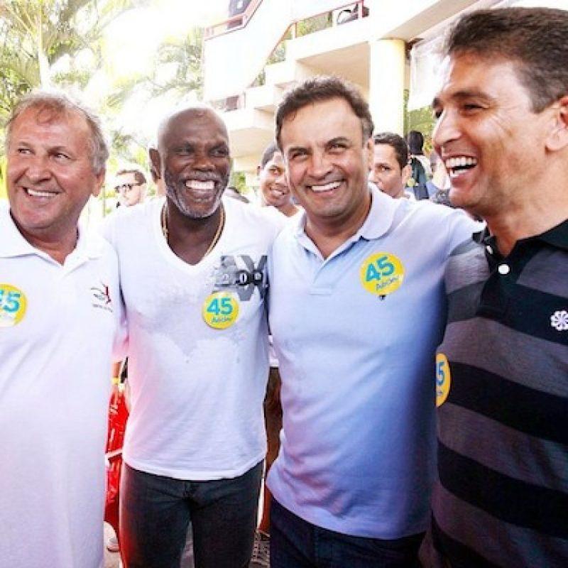 """""""Fútbol entre amigos"""", con la participación de Zico, Claudio Adao y Bebeto Foto:Instagram @AecioNevesOficial"""