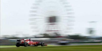 El piloto español de Fórmula Uno Fernando Alonso, de Ferrari, participa en la primera sesión de entrenamientos libres para el Gran Premio de Fórmula Uno de Japón en el circuito de Suzuka (Japón) hoy, viernes 3 de octubre de 2014. EFE