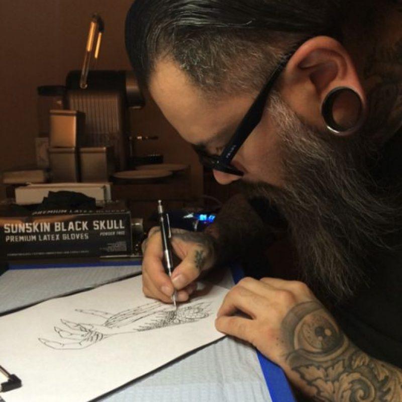 Estos son los bocetos del tatuaje de la cantante Foto:Instagram/Lady Gaga