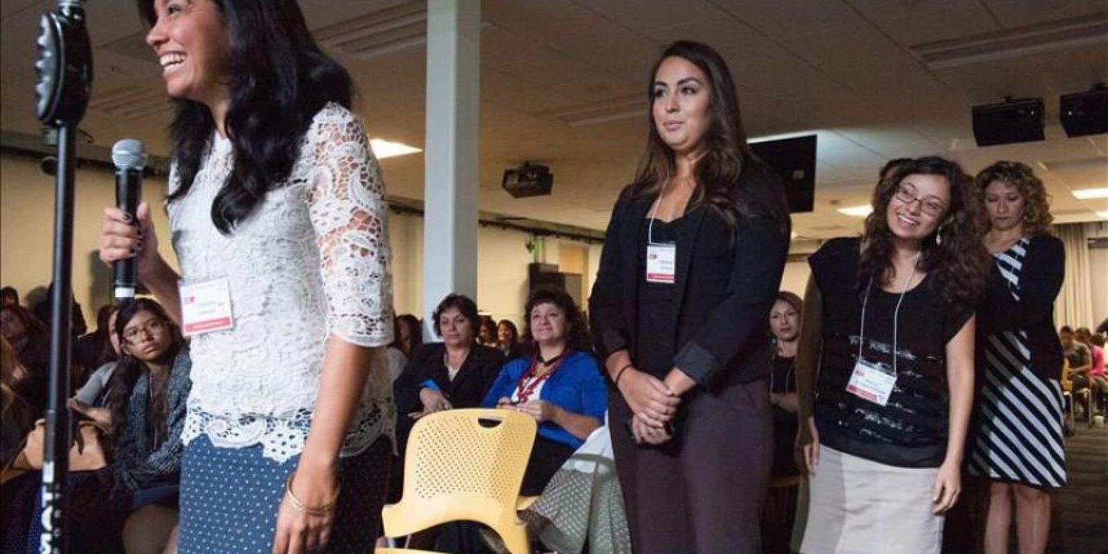 """Asistentes participan en una conferencia de alto nivel convocada por """"Latinas Think Big"""" (""""Las latinas piensan a lo grande""""), en la sede de Google en Mountain View, California (EE.UU.). EFE"""