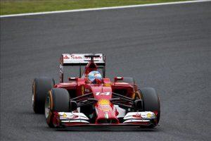 El piloto español de Fórmula Uno, Fernando Alonso, hoy en el circuito de Suzuka. EFE