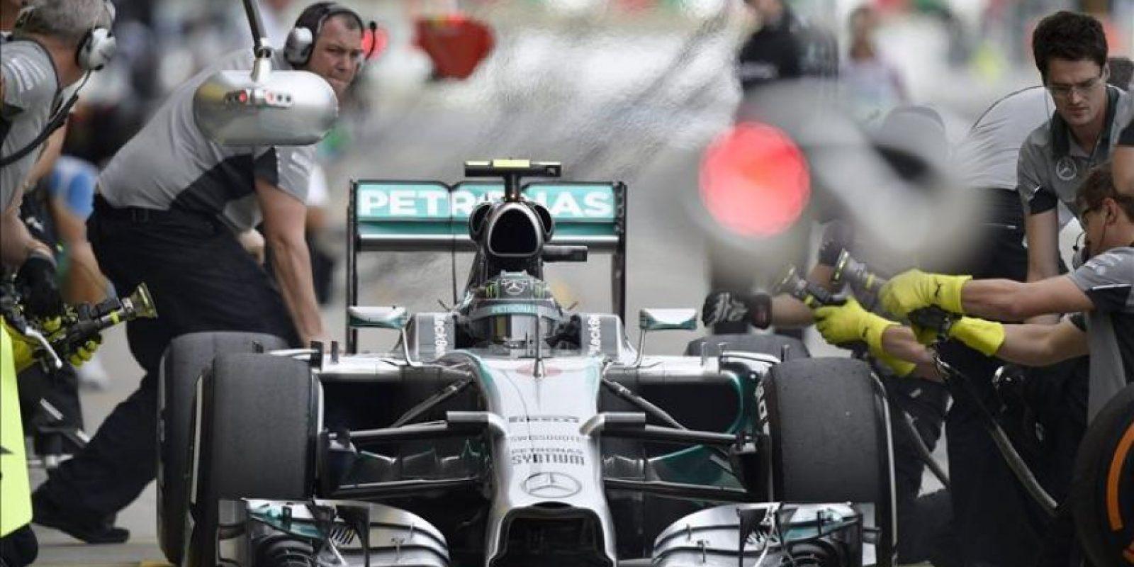 El piloto alemán de Fórmula Uno, Nico Rosberg, hoy en el circuito de Suzuka. EFE