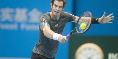 El británico Andy Murray, hoy durante su partido contra el serbio Novak Djokovic. EFE