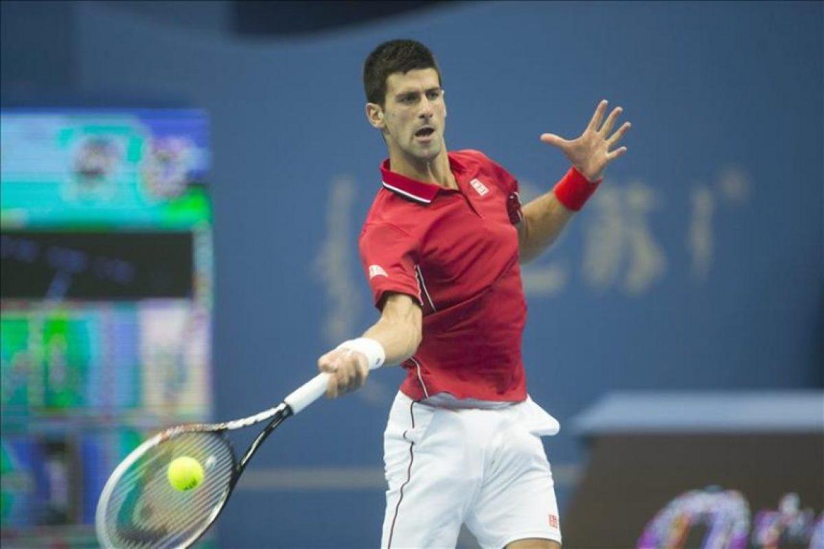 El serbio Novak Djokovic, hoy durante su partido contra el británico Andy Murray. EFE