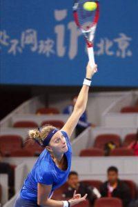 La checa Petra Kvitova, hoy durante su partido contra la australiana Samantha Stosur. EFE/Archivo