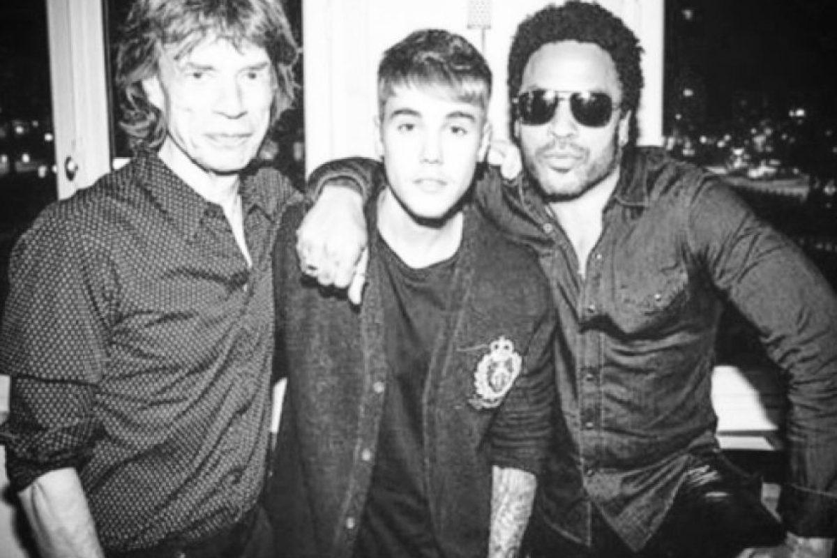Mick Jagger y Lenny Kravitz, los nuevos amigos de Justin Bieber Foto:Instagram/Justin Bieber